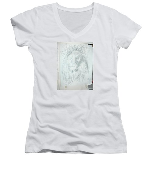 Peace In The Valley Women's V-Neck T-Shirt (Junior Cut) by Sharyn Winters