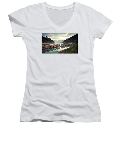 Peace On The Lake Women's V-Neck