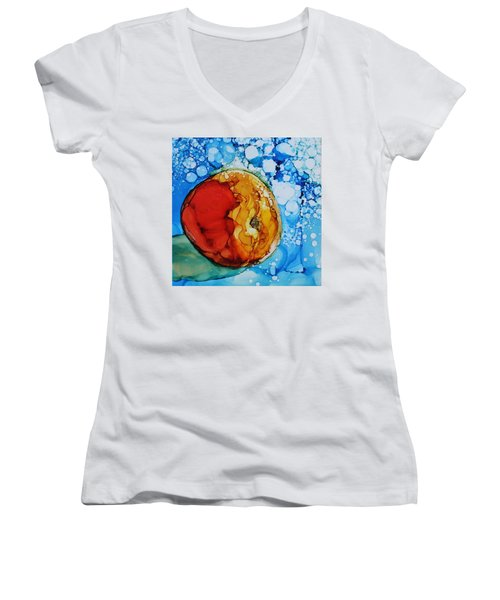 Peach Women's V-Neck