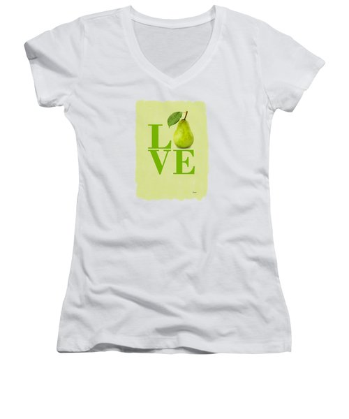 Pear Women's V-Neck T-Shirt