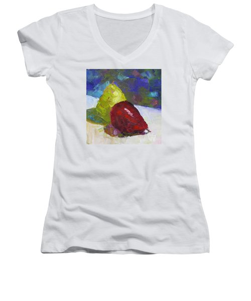Pear Pair Women's V-Neck (Athletic Fit)
