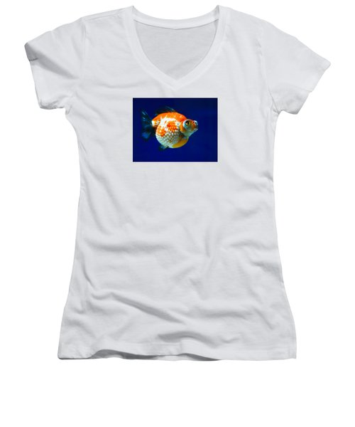 Pearl Scale Goldfish Women's V-Neck T-Shirt