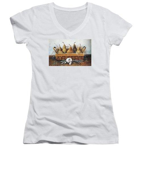 Pears Women's V-Neck T-Shirt