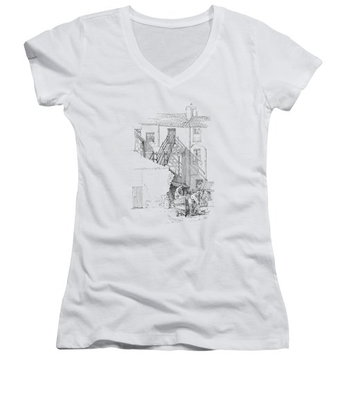 Peel Back Street Women's V-Neck T-Shirt