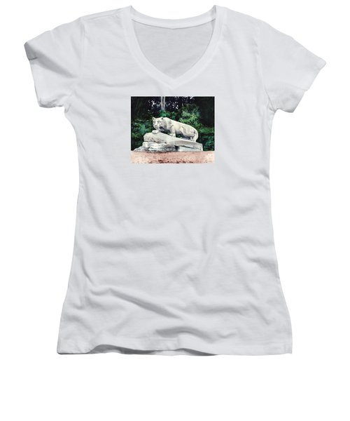Penn State Nittany Lion Shrine University Happy Valley Joe Paterno Women's V-Neck T-Shirt