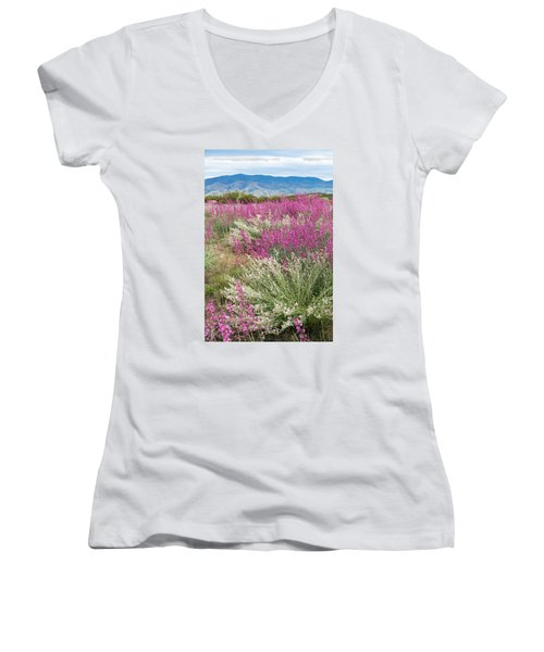 Penstemon At Black Hills Women's V-Neck (Athletic Fit)