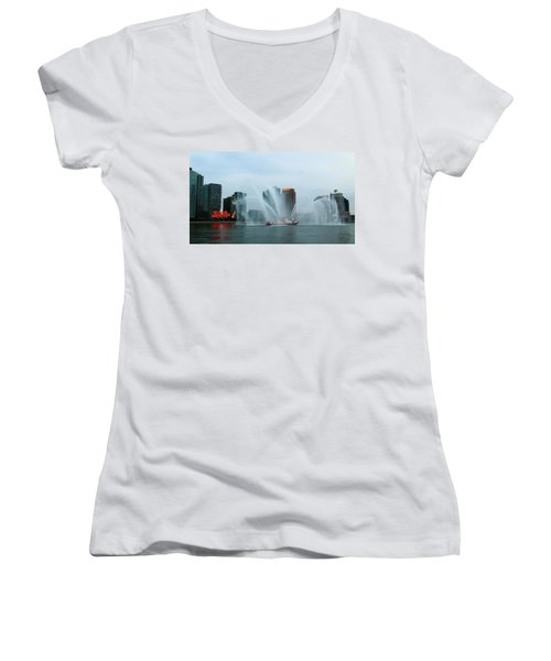 Pepsi Sign And Fdny  Women's V-Neck (Athletic Fit)