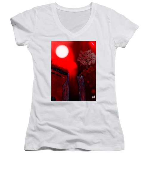 Perigee Moon 2 Women's V-Neck T-Shirt