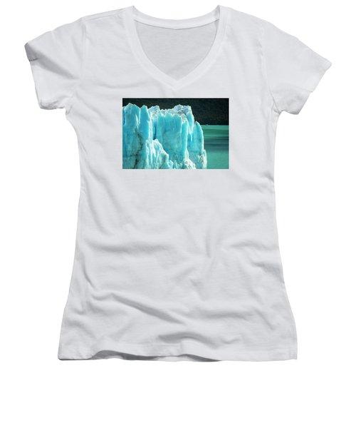 Perito Moreno Glacier Women's V-Neck (Athletic Fit)
