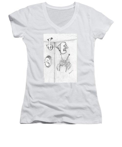 Permanent Fixture Women's V-Neck T-Shirt