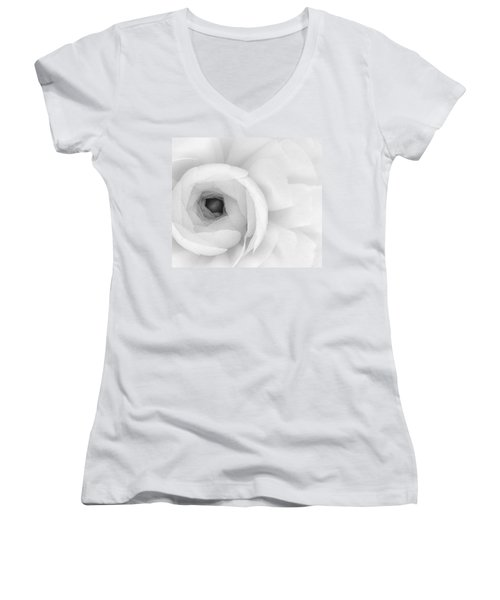 Petals Unfurling Women's V-Neck T-Shirt