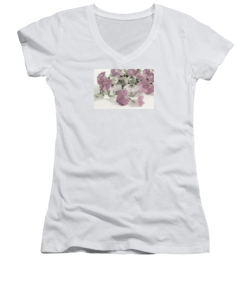 Petunias And Perfume - Soft Women's V-Neck (Athletic Fit)