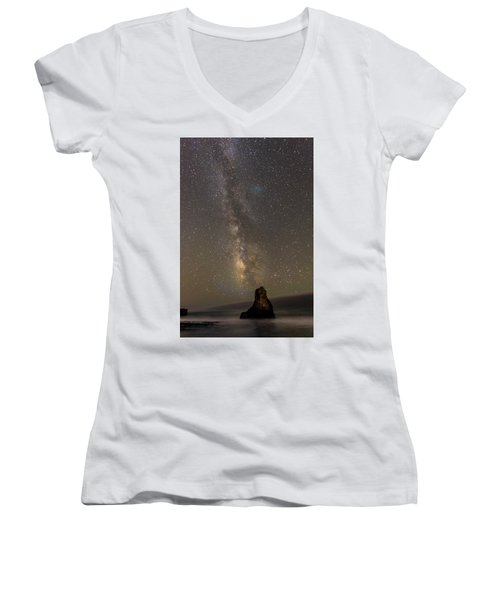 Women's V-Neck featuring the photograph Phases Of Matter by Alex Lapidus