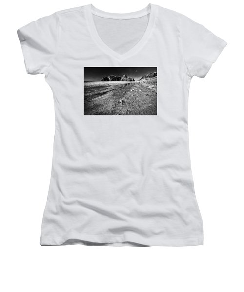 Women's V-Neck T-Shirt (Junior Cut) featuring the photograph Pheiffer Beach -keyhole Rock #17 Big Sur, Ca by Jennifer Rondinelli Reilly - Fine Art Photography
