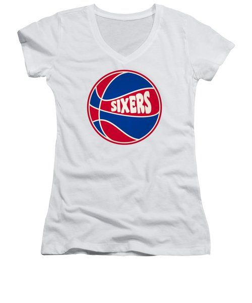 Philadelphia 76ers Retro Shirt Women's V-Neck (Athletic Fit)