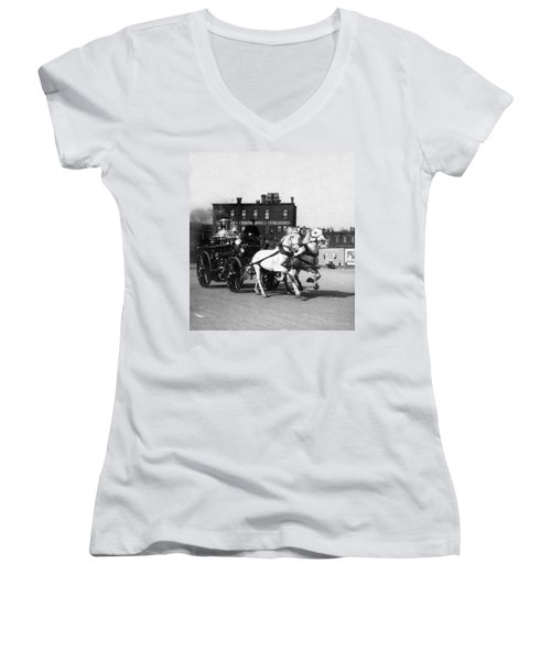 Philadelphia Fire Department Engine - C 1905 Women's V-Neck (Athletic Fit)