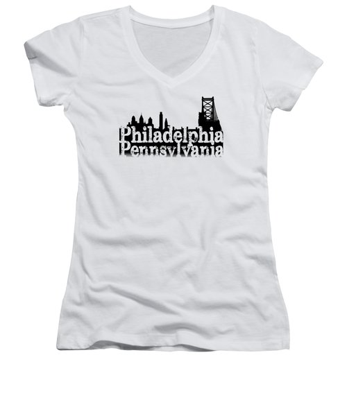 Philadelphia Pennsylvania Women's V-Neck (Athletic Fit)
