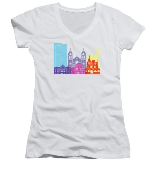 Phoenix Skyline Pop Women's V-Neck (Athletic Fit)