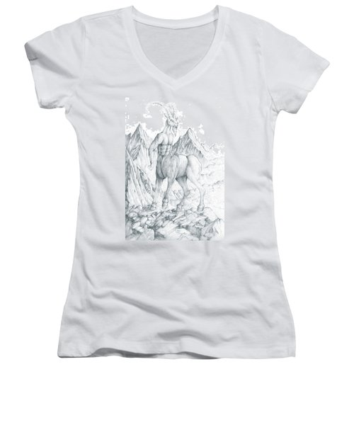 Pholus The Centauras Women's V-Neck T-Shirt
