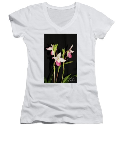 Phragmipedium Cardinale Wacousta Orchid Women's V-Neck (Athletic Fit)