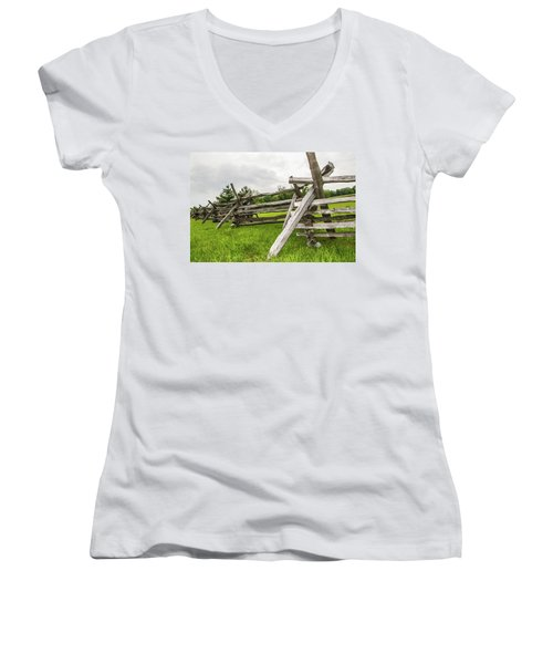Picket Fence Women's V-Neck (Athletic Fit)