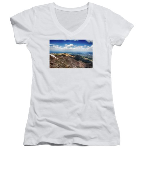Pikes Peak Women's V-Neck T-Shirt