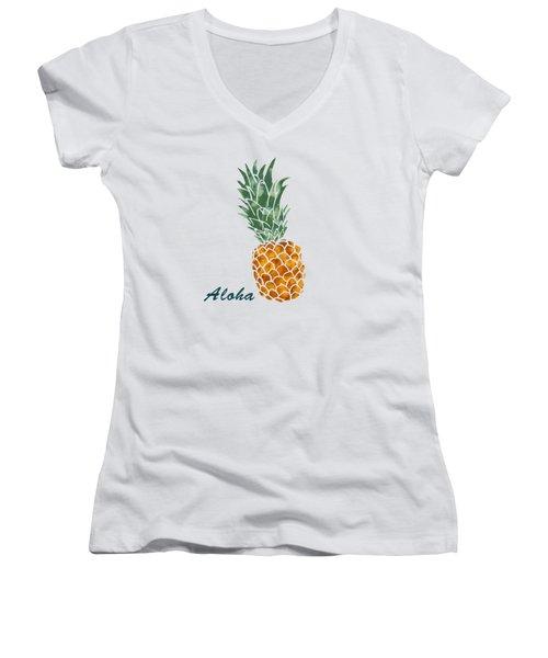 Pineapple Women's V-Neck T-Shirt