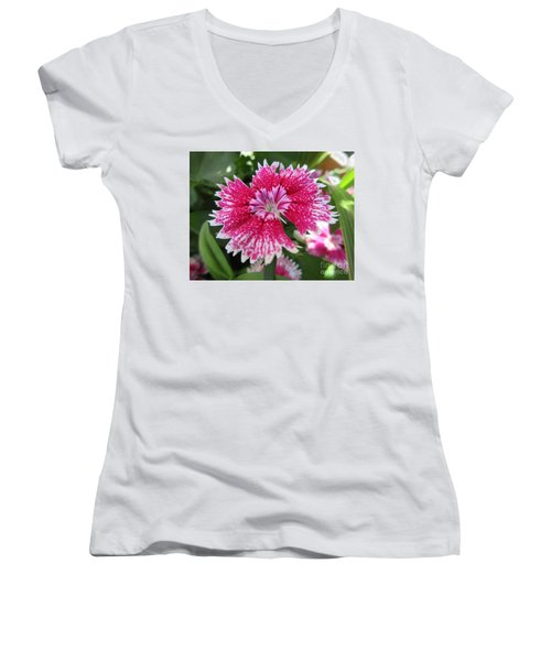 Pink Carnation  Women's V-Neck