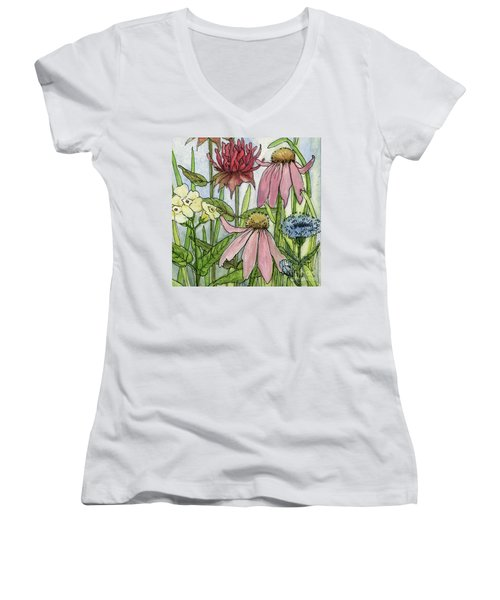 Pink Coneflower Women's V-Neck