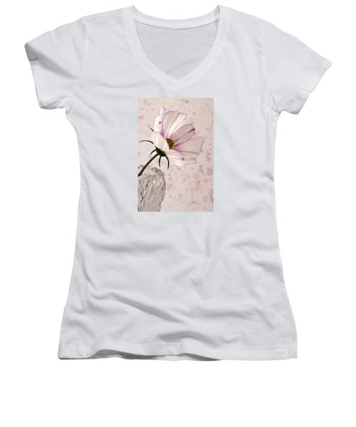 Pink Cosmo - Digital Oil Art Work Women's V-Neck (Athletic Fit)