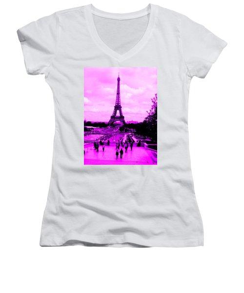Pink Paris Women's V-Neck
