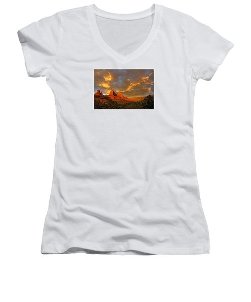 Pinnacle Of Light Women's V-Neck