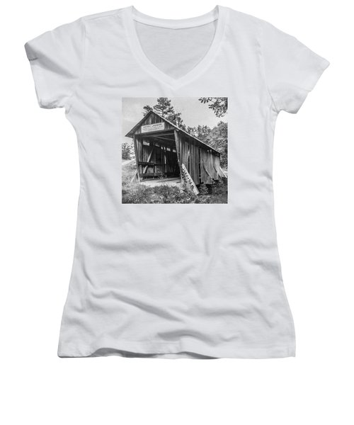 Pisgah Covered Bridge No. 1 Women's V-Neck