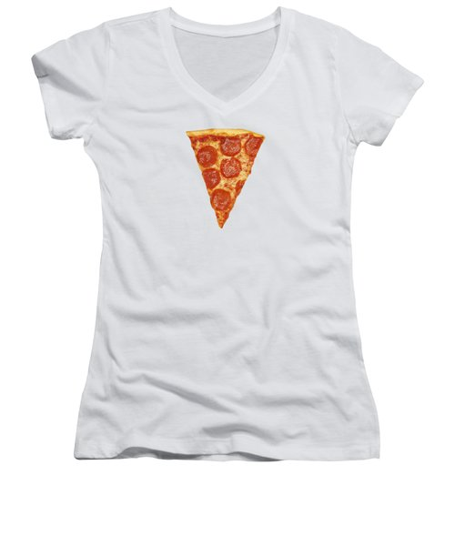 Pizza Slice Women's V-Neck (Athletic Fit)