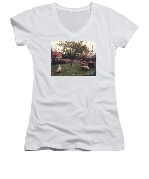 Place Of Peace And Love Women's V-Neck
