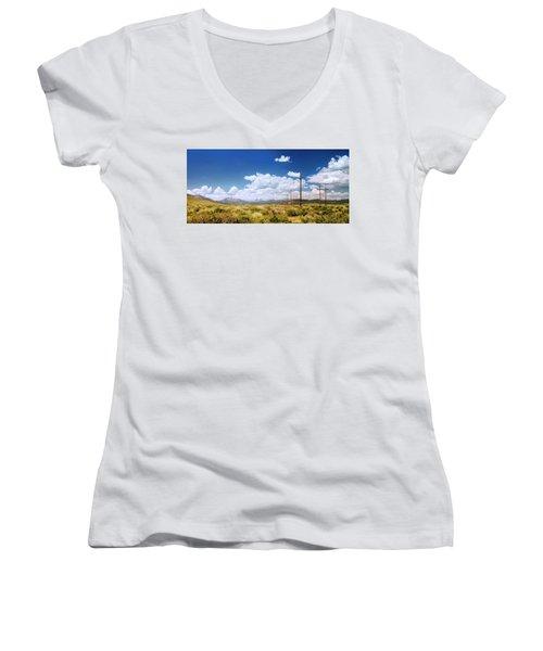 Plains Of The Sierras Women's V-Neck