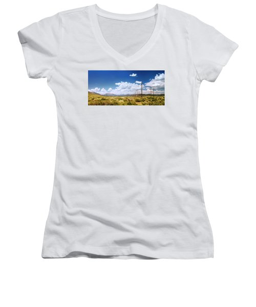 Plains Of The Sierras Women's V-Neck