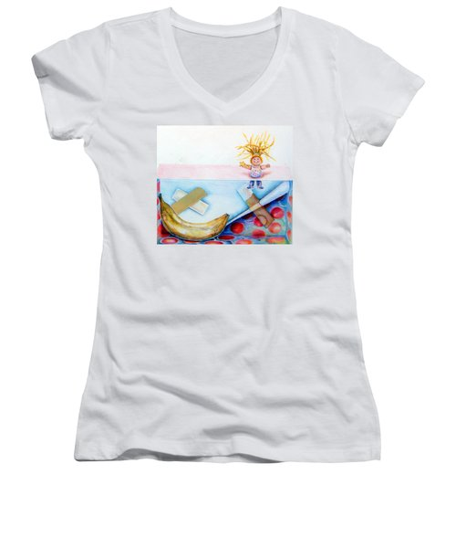 Play Day Women's V-Neck T-Shirt