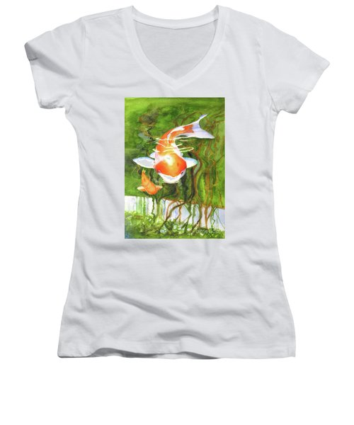 Play Koi With Me Women's V-Neck (Athletic Fit)