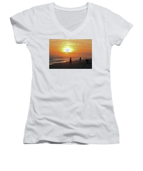 Play On The Beach Women's V-Neck