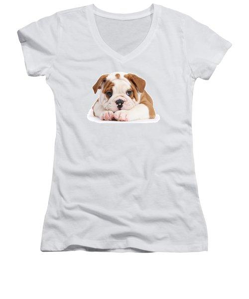 Po-faced Bulldog Women's V-Neck