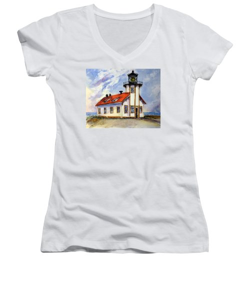 Point Cabrillo Light Station - Fort Bragg Women's V-Neck (Athletic Fit)