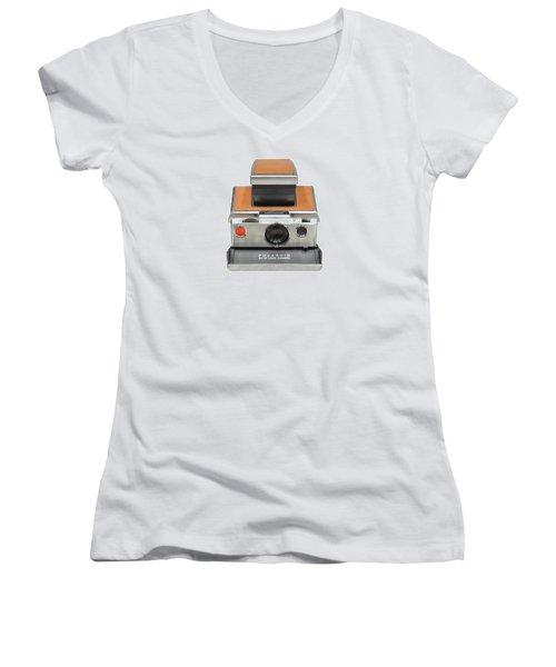 Polaroid Sx70 On White Women's V-Neck