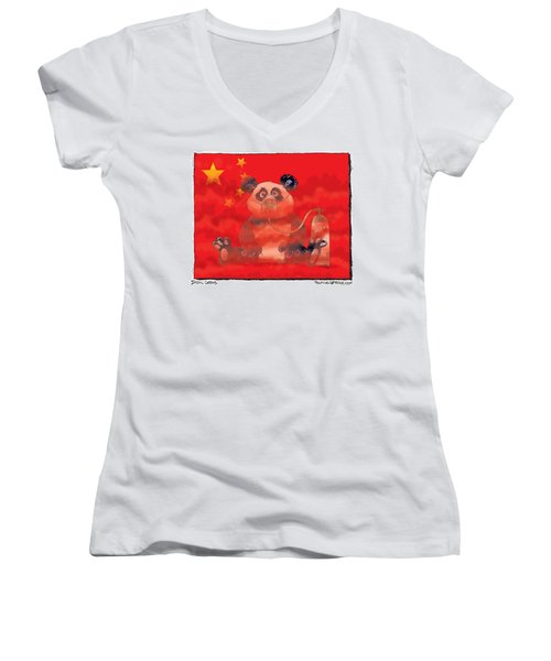Pollution In China Women's V-Neck