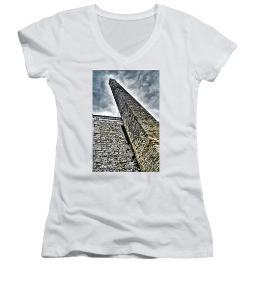 Pollution Women's V-Neck T-Shirt