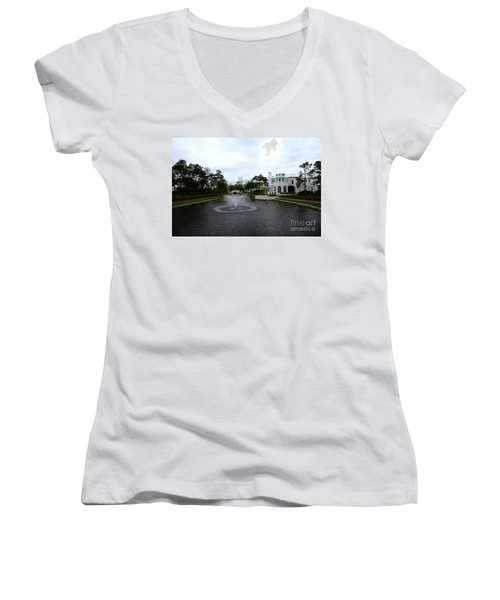 Pond At Alys Beach Women's V-Neck (Athletic Fit)