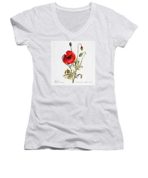 Poppy Women's V-Neck