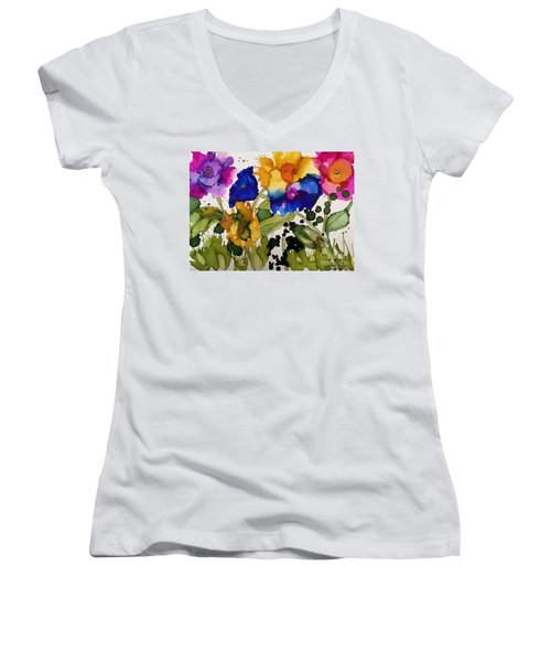 Poppy Party Women's V-Neck T-Shirt