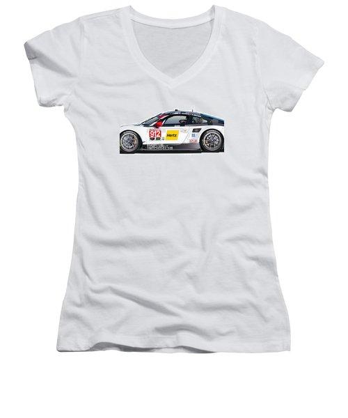 Porsche 911 Gtlm Illustration Women's V-Neck (Athletic Fit)