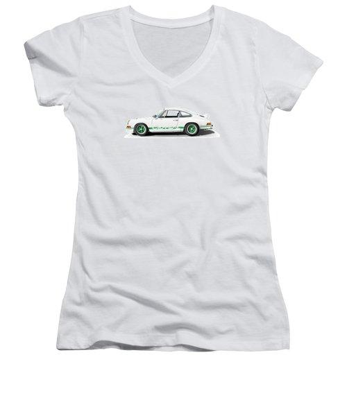 Porsche Carrera Rs Illustration Women's V-Neck (Athletic Fit)